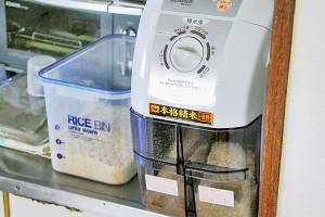 農家さんから直接購入した玄米を、自家精米機で精米しています。